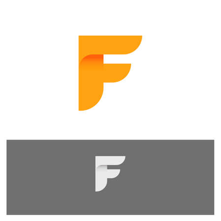 F Alphabet Abstract Letter vector icon illustration.eps Illustration
