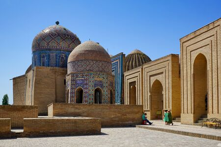 Ancient necropolis of Samarkand Uzbekistan Фото со стока