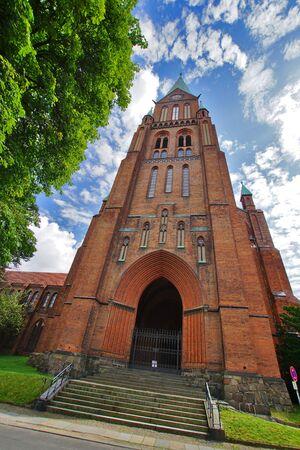 St. Paulskirche Dom in Schwerin Stok Fotoğraf
