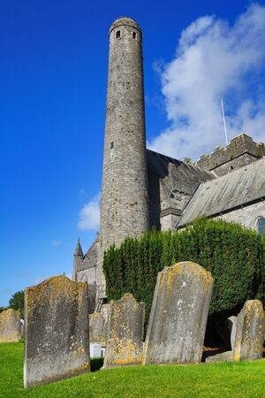 Ancient Celtic Cemetery at St Canices Cathedral in Kilkenny - Ireland