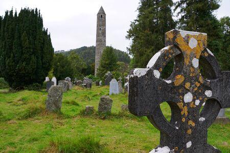 Ancient celtic cemetery at Glendalough - Ireland