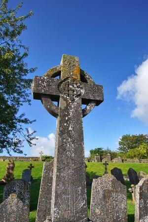 Ancient Celtic cross in Kilkenny - Ireland