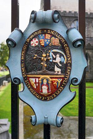 Coat of arms of St. Patricks Cathedral in Dublin Reklamní fotografie