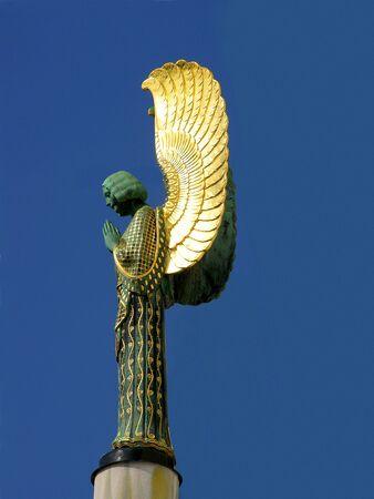 Art Nouveau angel at Steinhof church in Vienna