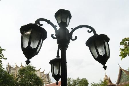 groundless: street lamp in Supanburi, Thailand