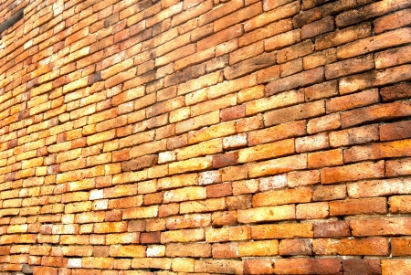 wall of old temple in Ayutthaya, Thailand photo
