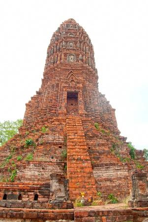 phra nakhon si ayutthaya: old stupa in Worachet temple since Ayutthaya