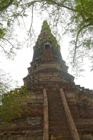 chedi in Worachet temple Ayutthaya, Thailand photo