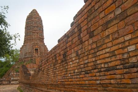 old stupa in Worachet temple since Ayutthaya  photo