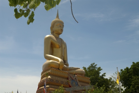 peaceably: big buddha image sit outdoor Stock Photo