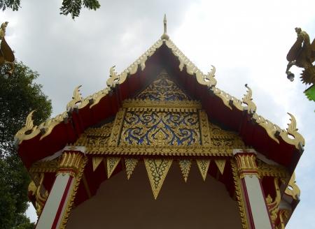 Permanent: kunst van de Thaise tempel is intellect Stockfoto
