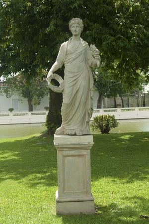 molded: angel molded in Thai royal garden