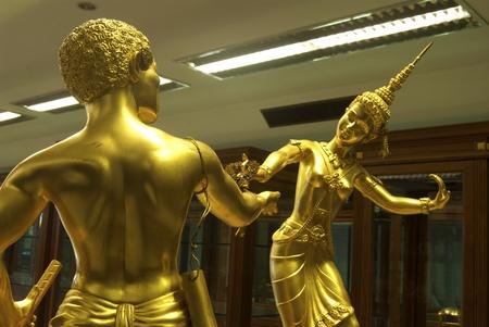 moulded: Bailar�n popular tailandesa moldeado en el museo, Tailandia Foto de archivo