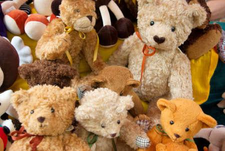 teddy bears: Osos de peluche en una feria en Budapest  Foto de archivo