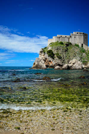 Fort Lovrijenac or St  Lawrence Fortress, often called  Dubrovnik s Gibraltar , is a fortress and theater located outside the western wall of the city of Dubrovnik in Croatia, 37 meters above sea level  photo