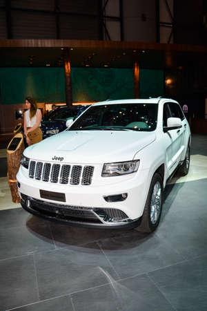 JEEP Grand Cherokee on display during the Geneva Motor Show, Geneva, Switzerland, March 4, 2014.  Редакционное