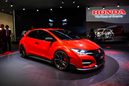 Honda Civic Type R concept car on display during the Geneva Motor Show, Geneva, Switzerland, March 4, 2014.