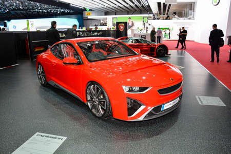 Gumpert Explosion on display during the Geneva Motor Show, Geneva, Switzerland, March 4, 2014.