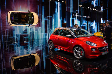 Opel Adam S on display during the Geneva Motor Show, Geneva, Switzerland, March 4, 2014.  Editorial