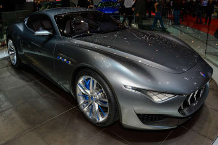 Maserati Alfieri Concept on display during the Geneva Motor Show, Geneva, Switzerland, March 4, 2014.
