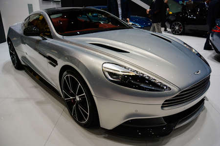Aston Martin Vanquish on display during the Geneva Motor Show, Geneva, Switzerland, March 3, 2014.