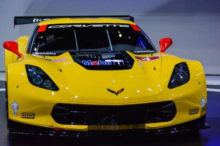 Chevrolet Corvette C7.R on display during the Geneva Motor Show, Geneva, Switzerland, March 3, 2014.