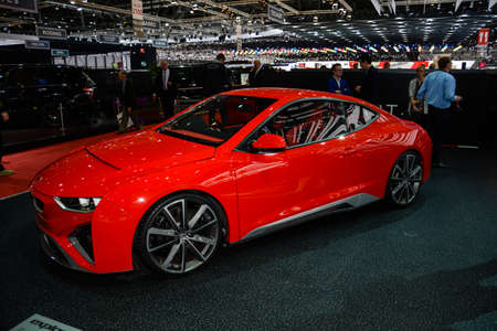 Gumpert Explosion during the Geneva Motor Show, Geneva, Switzerland, March 4, 2014.