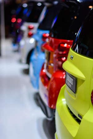 スマート車ジュネーブ モーター ショー、ジュネーブ、スイス連邦共和国、2014 年 3 月 4 日の間に展示。