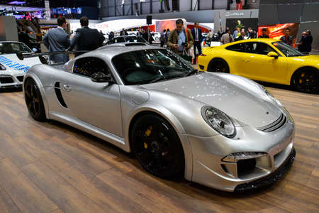 Ruf Porsche on display during the Geneva Motor Show, Geneva, Switzerland, March 4, 2014.