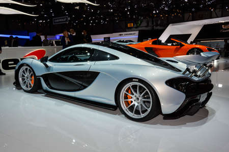 Mclaren P1 on display during the Geneva Motor Show, Geneva, Switzerland, March 4, 2014.  Editorial