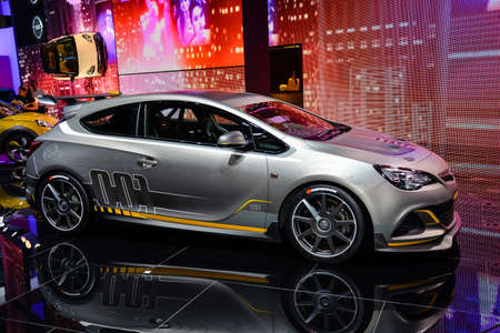 astra: Opel Astra OPC Extreme on display during the Geneva Motor Show, Geneva, Switzerland, March 4, 2014.  Editorial