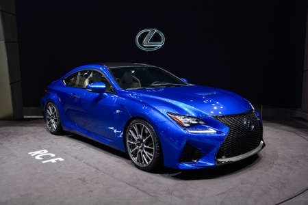 Lexus RCF on display during the Geneva Motor Show, Geneva, Switzerland, March 4, 2014.