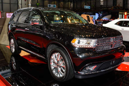Dodge Durango on display during the Geneva Motor Show, Geneva, Switzerland, March 4, 2014.  Editorial