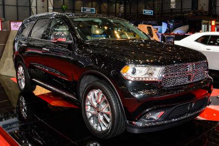 dodge: Dodge Durango on display during the Geneva Motor Show, Geneva, Switzerland, March 4, 2014.  Editorial