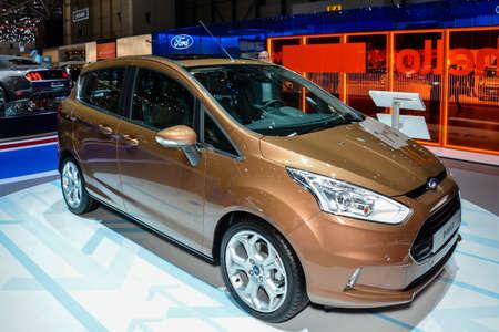 Ford B-Max on display during the Geneva Motor Show, Geneva, Switzerland, March 4, 2014.  Редакционное