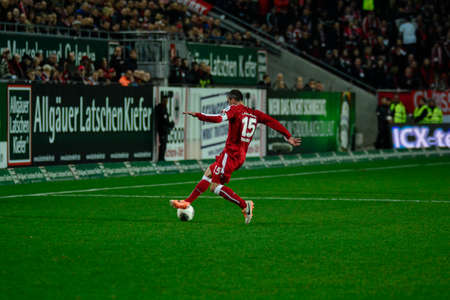 Defender MARC TORREJON (15) moves the ball downfield. The 1FC Kaiserslautern hosted the 1FC Koln at Fritz-Walter-Stadion in Kaiserslautern.