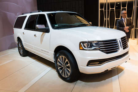 Detroit, MI, USA - January 12, 2015: Lincoln Navigator on display during the 2015 Detroit International Auto Show at the COBO Center in downtown Detroit.