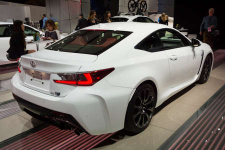 lexus auto: Detroit, MI, USA - January 12, 2015: Lexus RC 350 F on display during the 2015 Detroit International Auto Show at the COBO Center in downtown Detroit.