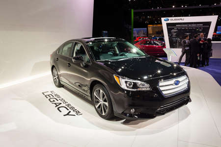 legacy: Detroit, MI, USA - January 12, 2015: Subaru Legacy on display during the 2015 Detroit International Auto Show at the COBO Center in downtown Detroit.