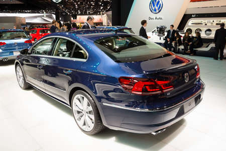 cc: Detroit, MI, USA - January 12, 2015: Volkswagen CC on display during the 2015 Detroit International Auto Show at the COBO Center in downtown Detroit. Editorial