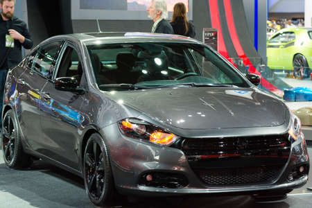 dodge: Detroit, MI, USA - January 13, 2015: Dodge Dart on display during the 2015 Detroit International Auto Show at the COBO Center in downtown Detroit.