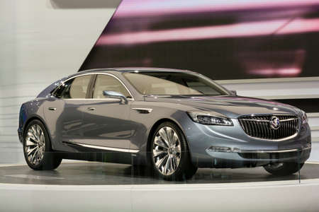 Detroit Mi Usa January 13 2015 Buick Avenir Concept On Stock