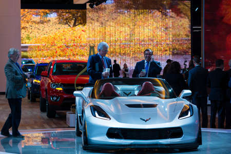 chevrolet: Detroit, MI, USA - January 13, 2015: Chevrolet Corvette Z06 on display during the 2015 Detroit International Auto Show at the COBO Center in downtown Detroit. Editorial