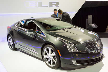 Detroit, MI, USA - January 12, 2015: Cadillac ELR on display during the 2015 Detroit International Auto Show at the COBO Center in downtown Detroit.