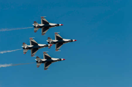 md: CAMP SPRINGS, MD, USA - SEPTEMBER 19, 2015: The USAF Thunderbirds perform during the 2015 Joint Base Andrews Air Show held at Joint Base Andrews in Camp Springs Maryland. Editorial