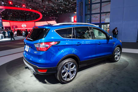 titanium: New York, USA - March 23, 2016: Ford Escape Titanium on display during the New York International Auto Show at the Jacob Javits Center. Editorial