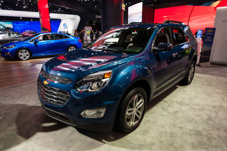 jacob: New York, USA - March 23, 2016: Chevrolet Equinox on display during the New York International Auto Show at the Jacob Javits Center.
