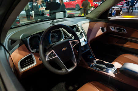 chevrolet: New York, USA - March 23, 2016: Chevrolet Equinox interior on display during the New York International Auto Show at the Jacob Javits Center.