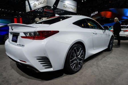 lexus auto: New York, USA - March 23, 2016: Lexus RC 350 on display during the New York International Auto Show at the Jacob Javits Center. Editorial