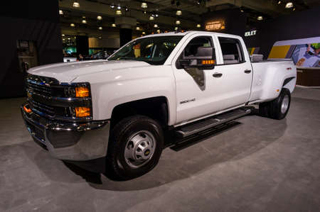 silverado: New York, USA - March 24, 2016: Chevrolet Silverado on display during the New York International Auto Show at the Jacob Javits Center. Editorial